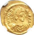 Ancients:Byzantine, Ancients: Maurice Tiberius (AD 582-602). AV tremissis....