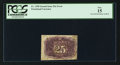 Fractional Currency:Second Issue, Fr. 1290 Milton 2R25.9c 25¢ Second Issue Inverted Surcharges PCGS Fine 15.. ...