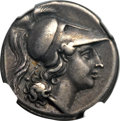 Ancients:Greek, Ancients: CAMPANIA. Cales. Ca. 265-240 BC. AR didrachm (7.23gm)....