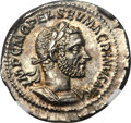Ancients:Roman Imperial, Ancients: Macrinus (AD 217-218). AR denarius (3.74 gm)....