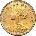 Chile, Chile: Republic gold 100 Pesos 1955-So MS67 NGC,...