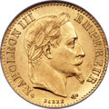 France, France: Napoleon III gold 10 Francs 1867-BB MS65 NGC,...