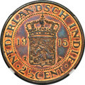 Netherlands East Indies, Netherlands East Indies: Dutch Colony. Wilhelmina copper Proof 21/2 Cents 1915 PR65 Red and Brown NGC,...