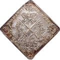German States:Saxony, German States: Saxony. Johann Georg IV Klippe Taler 1693 AU Details (Excessive Surface Hairlines) NGC,...