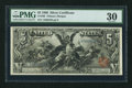 Large Size:Silver Certificates, Fr. 268 $5 1896 Silver Certificate PMG Very Fine 30.. ...