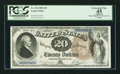 Large Size:Legal Tender Notes, Fr. 138 $20 1880 Legal Tender PCGS Apparent Extremely Fine 45.. ...