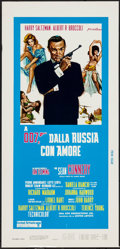 """Movie Posters:James Bond, From Russia with Love (United Artists, R-1970s). Italian Locandina (13"""" X 27.5""""). James Bond.. ..."""