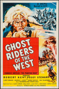"Movie Posters:Serial, Ghost Riders of the West (Republic, R-1954). One Sheets (5) (27"" X41"") Flat Folded. Serial.. ... (Total: 5 Items)"