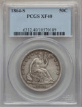 Seated Half Dollars: , 1864-S 50C XF40 PCGS. PCGS Population (22/61). NGC Census: (6/36). Mintage: 658,000. Numismedia Wsl. Price for problem free...