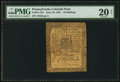 Colonial Notes:Pennsylvania, Pennsylvania June 18, 1764 10s PMG Very Fine 20 Net.. ...