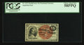 Fractional Currency:Fourth Issue, Fr. 1271 15¢ Fourth Issue PCGS Choice About New 58PPQ.. ...