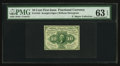 Fractional Currency:First Issue, Fr. 1243 Milton 1R10.1d 10¢ First Issue Inverted Back PMG ChoiceUncirculated 63 EPQ.. ...