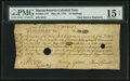 Colonial Notes:Massachusetts, Massachusetts May 25, 1775 18s PMG Choice Fine 15 Net.. ...