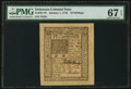 Colonial Notes:Delaware, Delaware January 1, 1776 10s PMG Superb Gem Unc 67 EPQ.. ...