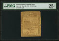 Colonial Notes:Pennsylvania, Pennsylvania May 20, 1758 20s PMG Very Fine 25 Net.. ...