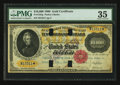 Large Size:Gold Certificates, Fr. 1225g $10,000 1900 Gold Certificate PMG Choice Very Fine 35.....