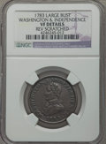 1783 COPPER Washington & Independence Cent, Large Military Bust -- Rev Scratched -- NGC Details. VF