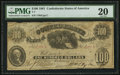 Confederate Notes:1861 Issues, T7 $100 1861 PF-5 Cr. 13.. ...