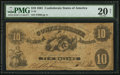 Confederate Notes:1861 Issues, T10 $10 1861 PF-20 Cr. 37.. ...