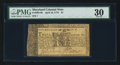 Colonial Notes:Maryland, Maryland April 10, 1774 $1 Serial Number 1 PMG Very Fine 30.. ...