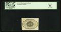 Fractional Currency:First Issue, Fr. 1242 Milton 1R10.4d 10¢ First Issue Inverted Back PCGS AboutNew 50.. ...