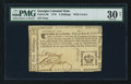 Colonial Notes:Georgia, Georgia 1776 - Crown (two border varieties) 5s PMG Very Fine 30Net.. ...