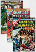 Bronze Age (1970-1979):Horror, Man-Thing Group of 17 (Marvel, 1974-75) Condition: Average NM-....(Total: 17 Comic Books)