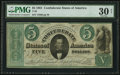 Confederate Notes:1861 Issues, T33 $5 1861 PF-12 Cr. 254a.. ...