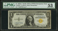 Small Size:World War II Emergency Notes, Fr. 2306* $1 1935A North Africa Silver Certificate. PMG About Uncirculated 53.. ...