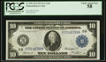 Fr. 909 $10 1914 Federal Reserve Note PCGS Choice About New 58