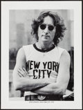 """Movie Posters:Rock and Roll, John Lennon by Bob Gruen (1980s). Personality Poster (18"""" X 24"""").Rock and Roll.. ..."""