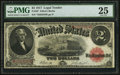 Large Size:Legal Tender Notes, Fr. 58* $2 1917 Legal Tender PMG Very Fine 25.. ...