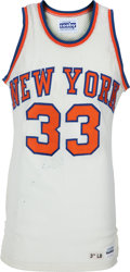 Basketball Collectibles:Uniforms, 1985-86 Patrick Ewing Game Worn, Signed New York Knicks RookieJersey....