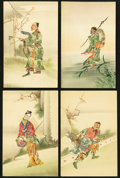 Miscellaneous:Other, Thirty-four Asian Stamp-Pictorial Postcards.. ... (Total: 34 items)