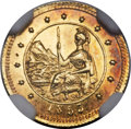 California Fractional Gold , 1853 50C Arms of California 50 Cents, BG-435, Low R.5, MS65 NGC....