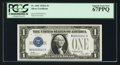 Small Size:Silver Certificates, Low Serial Number Fr. 1601 $1 1928A Silver Certificate. PCGS Superb Gem New 67PPQ.. ...