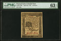 Colonial Notes:Pennsylvania, Pennsylvania April 25, 1776 18d PMG Choice Uncirculated 63 EPQ.....