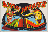 """Auto Skooter (Globe Poster, 1950s). Trimmed Stock Carnival Ride Poster No. 104 (27.5"""" X 40""""). Miscellaneous..."""