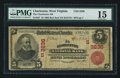 National Bank Notes:West Virginia, Charleston, WV - $5 1902 Red Seal Fr. 587 The Charleston NB Ch. #3236 (S). ...