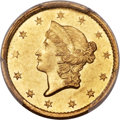 Gold Dollars, 1849-C G$1 Open Wreath MS62 PCGS Secure. Variety 1....