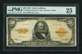 Large Size:Gold Certificates, Fr. 1200 $50 1922 Mule Gold Certificate PMG Very Fine 25.. ...
