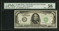 Fr. 2212-G* $1,000 1934A Federal Reserve Note. PMG Choice About Unc 58