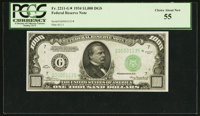 Fr. 2211-G* $1,000 1934 Federal Reserve Note. PCGS Choice About New 55