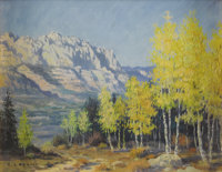 E. L. BOONE (1883-1952) Untitled Landscape Oil on canvasboard 8in. x 10in. Signed lower left  A beautiful depiction of...