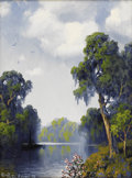 Paintings, A. D. GREER (1904-1998). River Scene. Oil on canvas. 16in. x 12in.. Signed lower left. Provenance:. Duffy Oyster. Dall...