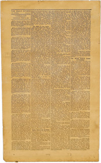 """Vicksburg The Daily Citizen Wallpaper Reprint of July 4, 1863 Edition, one page, folio (11.75"""" x 19.5""""). Among..."""