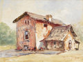 Texas:Early Texas Art - Impressionists, ROLLA TAYLOR (1871-1970). Untitled Texas Farm House. Oil oncanvasboard. 9in. x 12in.. Signed lower right. A Texas ranch h...