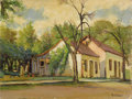 Texas:Early Texas Art - Impressionists, ROLLA TAYLOR (1871-1970). Untitled Texas Farm House. Oil onmasonite. 12in. x 16in.. Signed lower right. Painted on the ro...