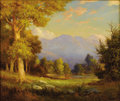Paintings, ROBERT WOOD (1889-1979). Mountainous Landscape. Oil on canvas. 29in. x 25in.. Signed lower right. A fine Robert Wood m...
