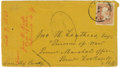 Military & Patriotic:Civil War, Confederate P.O.W. Cover From Elmira to Point Lookout. A nearly illegible Elmira, New York postmark ties a rose 3-cent U.S. ...